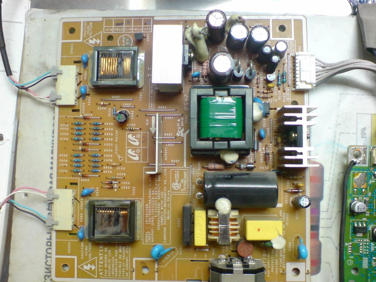 Простой ремонт TFT монитора 29